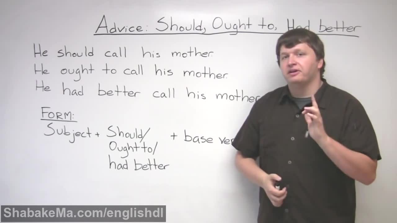 How to Give Advice in English – SHOULD, OUGHT TO, HAD BETTER
