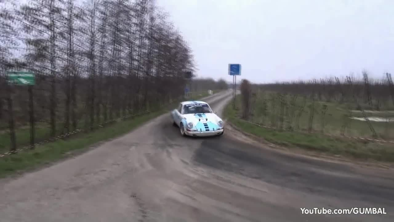 مسابقات رالی : Porsche 911 T + 911 SC + 911 ST - Pure Rally Sound!