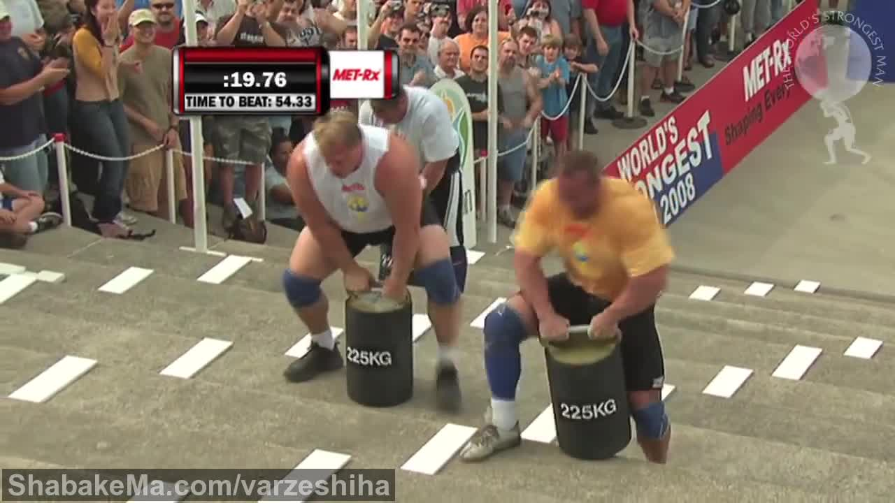 قوی ترین مردان جهان : 2008 Power Stairs: Heat Two | World's Strongest Man