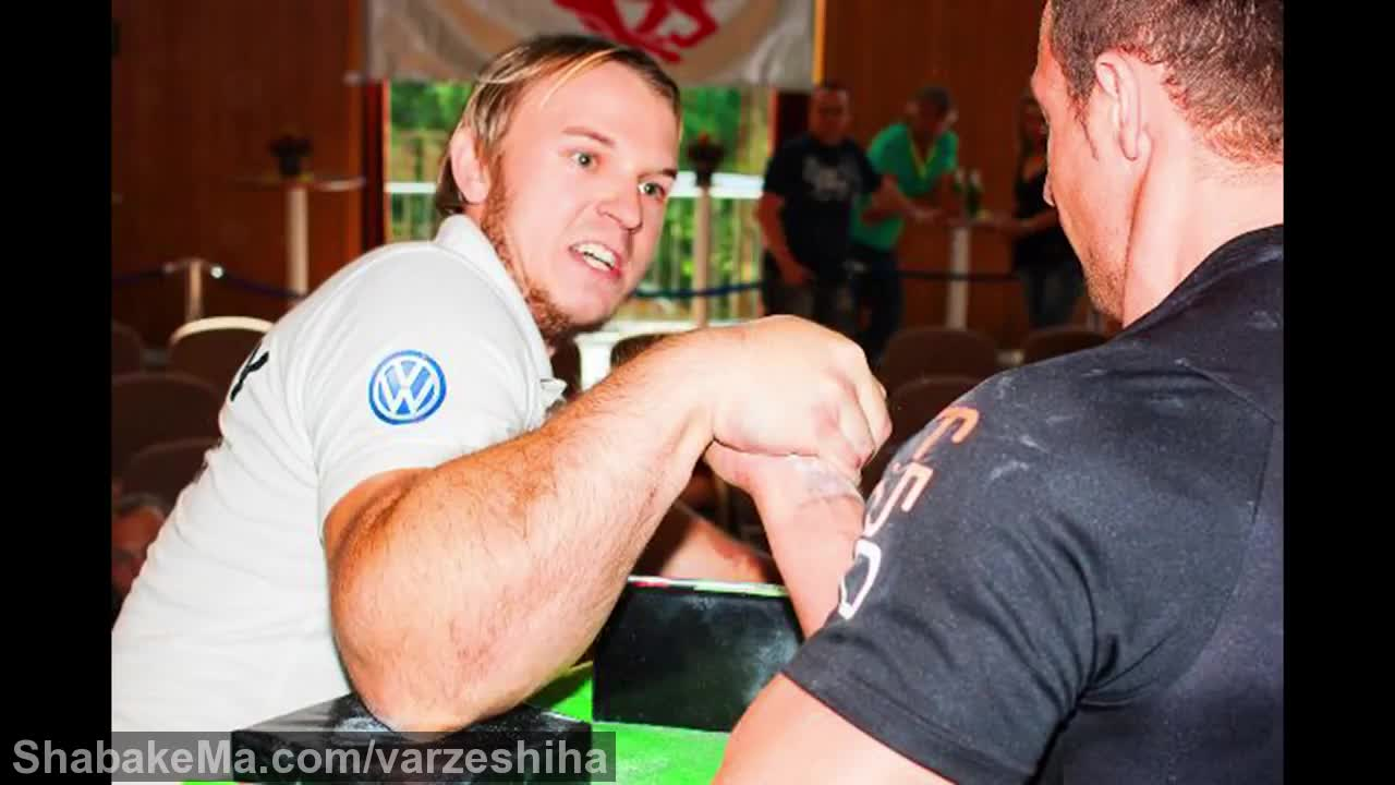 مسابقه مچ اندازی : MATTHIAS SCHLITTE - THE REAL LIFE POPEYE ARM WRESTLER ...