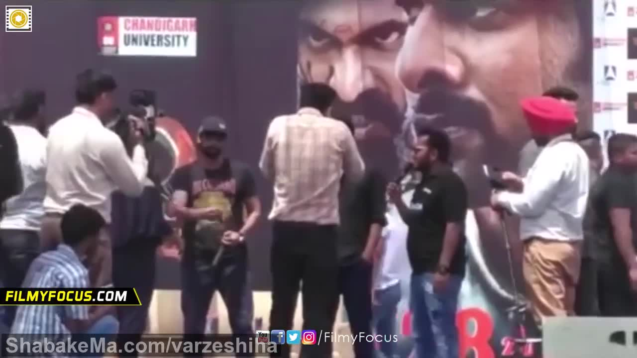 مسابقه مچ اندازی : Prabhas and Rana Daggubati Arm Wrestling in Live || Chandigargh ...