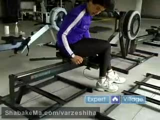 ورزش روئینگ : Rowing Machine Exercises : The Slider Exercise on a Rowing ...