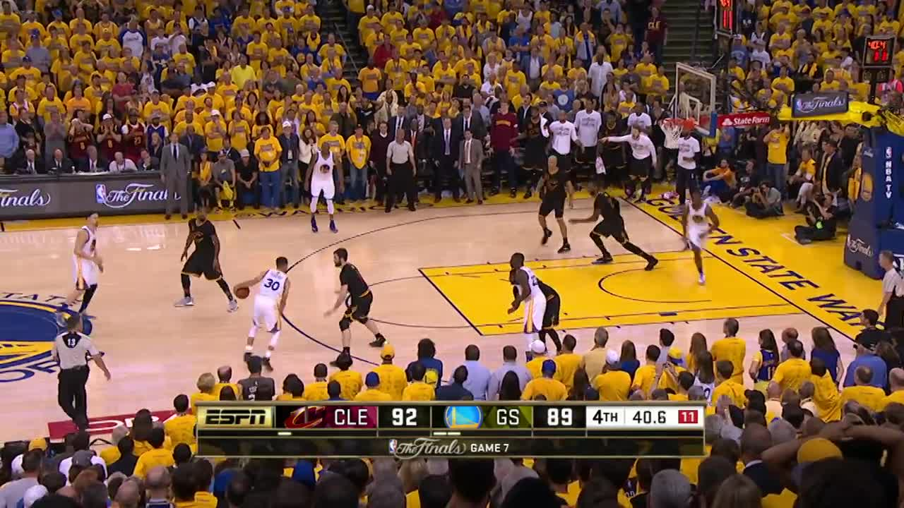 ورزش بسکتبال : Final 3:39 of Game 7 of the 2016 NBA Finals | Cavaliers vs Warriors ...