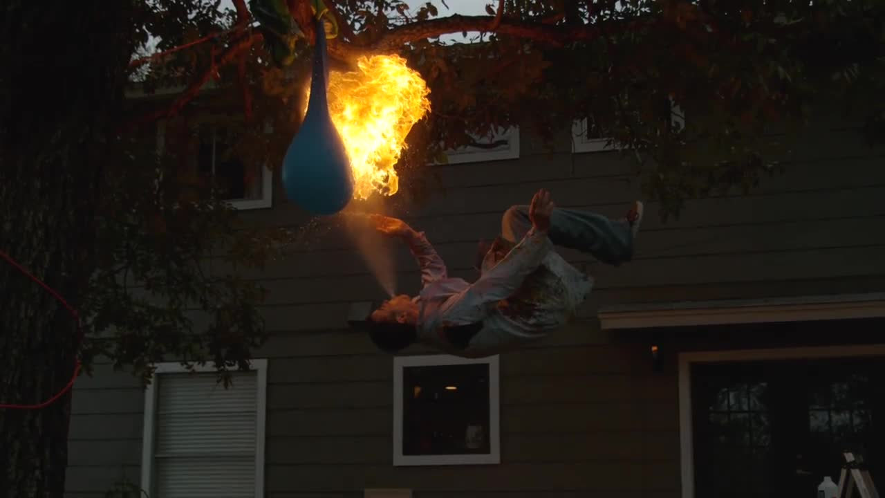 اسلوموشن دیدنی : Fire-breathing Backflip with Steve-O - The Slow Mo Guys