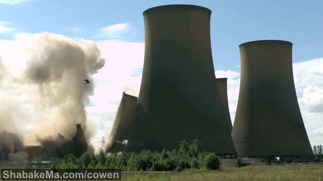 اسلوموشن دیدنی : Towers Collapsing in Slow Motion - The Slow Mo Guys