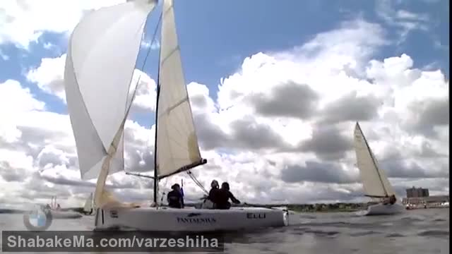 قایقرانی بادبانی  : Elliott 6m racing at Kieler Woche - ISAF Sailing World Cup
