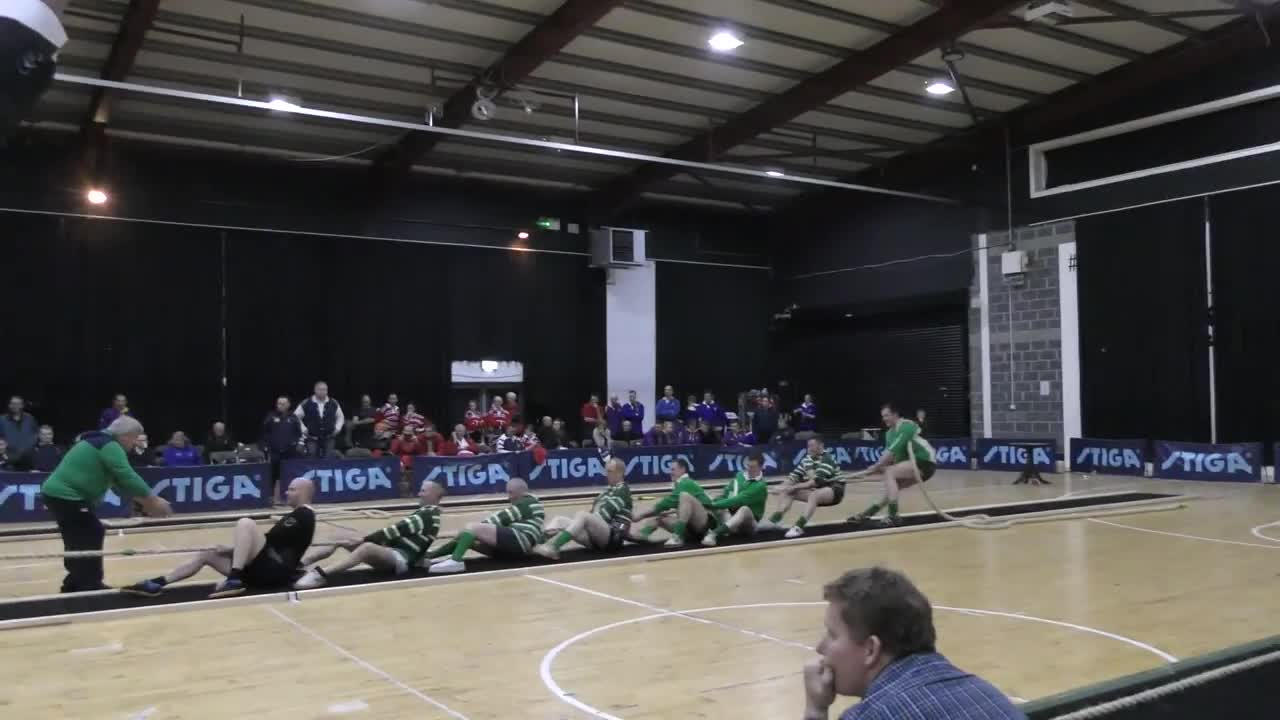 ورزش طناب کشی : British & Irish Indoor Tug of War Championships 2017 Men's 660kg ...