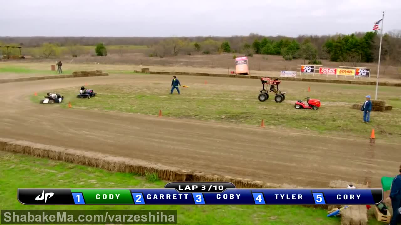 تریک شات  : The Dude Perfect Show Lawnmower Racing Battle