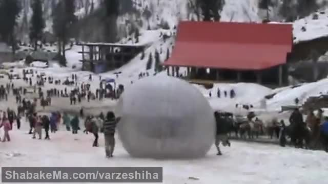 ورزش زوربینگ : Zorbing in Solang Valley