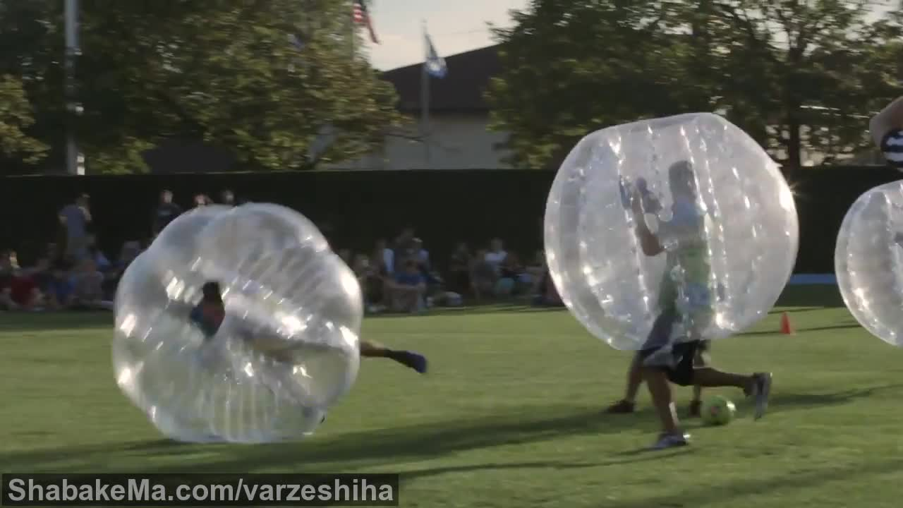 ورزش زوربینگ : Zorb Ball Soccer Fun at BYU