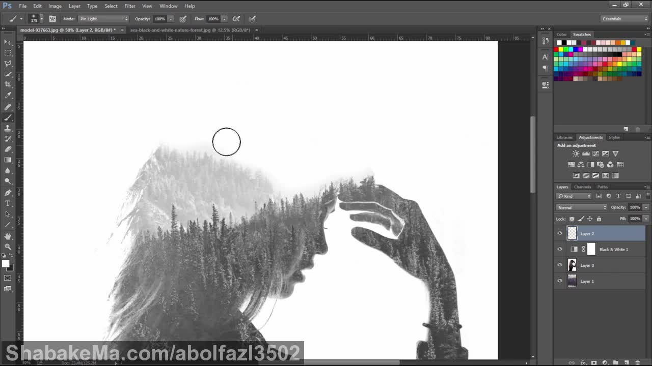 Double Exposure effect in photoshop CC 2015.