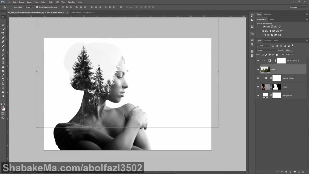 Double Exposure Photoshop Tutorial: How To Do It