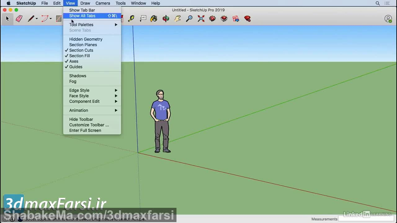 آموزش SketchUp 2019 Customize the toolbar for Mac